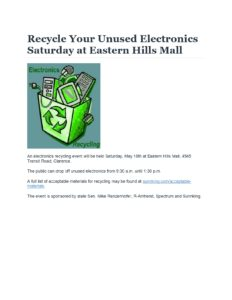 Recycle Your Unused Electronics Saturday at Eastern Hills Mall_page-0001