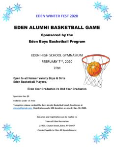 Eden Alumni Basketball Game 2020 registration and flyer_page-0001